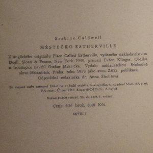 antikvární kniha Městečko Estherville, 1958