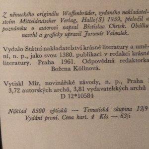 antikvární kniha Bratři ve zbrani, 1961