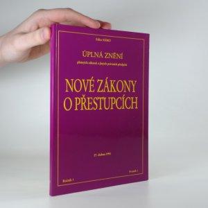 náhled knihy - Nové zákony o přestupcích