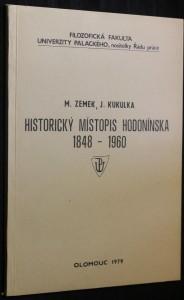 náhled knihy - Historický místopis Hodonínska 1848 - 1960
