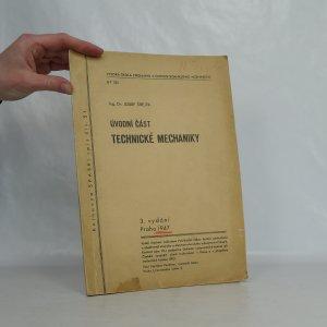 náhled knihy - Úvodní část technické mechaniky