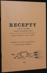 náhled knihy - Recepty, lakto - vegetarní, mléčno - zeleninové stravy