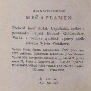 antikvární kniha Meč a pramen, 1962