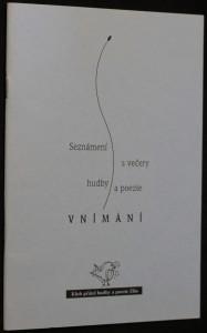 náhled knihy - Vnímání, seznámení s večery hudby a poezie