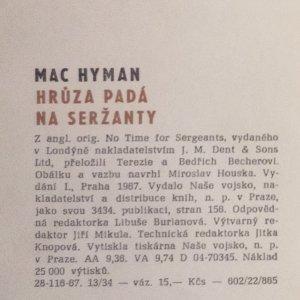 antikvární kniha Hrůza padá na seržanty, 1967