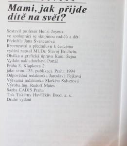 antikvární kniha Mami, jak přijde dítě na svět?, 1994
