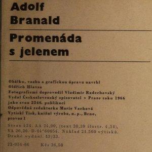 antikvární kniha Promenáda s jelenem, 1966