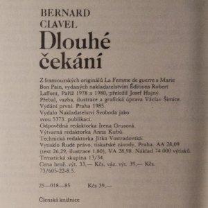 antikvární kniha Dlouhé čekání, 1985