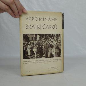 náhled knihy - Vzpomínáme bratří Čapků