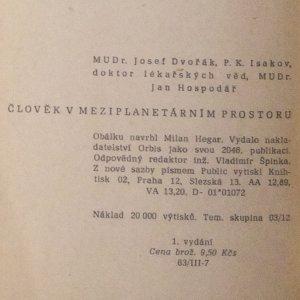 antikvární kniha Člověk v meziplanetárním prostoru, 1960