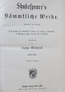 antikvární kniha Shakespeare's sämtliche Werke ( 4 svazky - 4 Bände ), neuveden