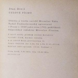 antikvární kniha Uzlové písmo, 1960