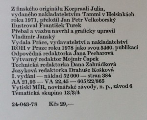 antikvární kniha Kaprál Julin, 1978