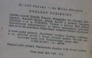 antikvární kniha Základy turistiky, 1955