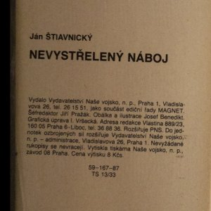 antikvární kniha Nevystřelený náboj, 1987