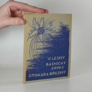 náhled knihy - Básnický zápas Otokara Březiny