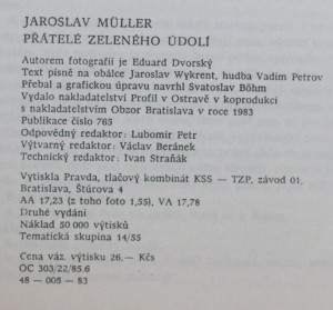 antikvární kniha Přátelé Zeleného údolí, 1983