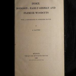 antikvární kniha Index Dodgson / early German and Flemish woodcuts, 1925