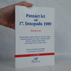 náhled knihy - Patnáct let od 17. listopadu 1989