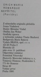 antikvární kniha Nepřítel : povídky, 1995