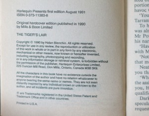 antikvární kniha The tiger´s lair, 1991