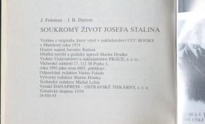 antikvární kniha Soukromý život Josefa Stalina, 1993