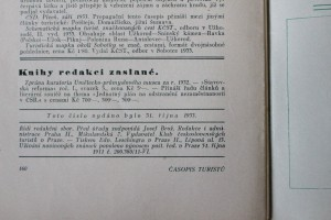 antikvární kniha Časopis turistů r. XLV. č. 5, 1933