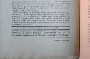 antikvární kniha Časopis turistů r. XLIV. č. 1, 1932
