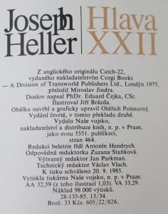 antikvární kniha Hlava XXII, 1985