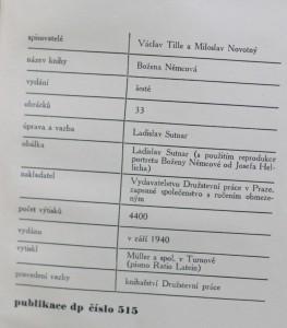 antikvární kniha Božena Němcová, 1940
