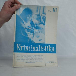 náhled knihy - Kriminalistika, ročník 1, číslo 10