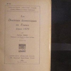 antikvární kniha Les Doctrines économiques en France depuis 1870. (Ekonomické doktríny ve Francii od roku 1870), 1946