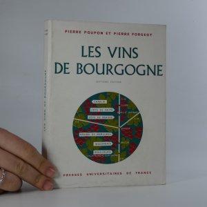 náhled knihy - Les Vins de Bourgogne