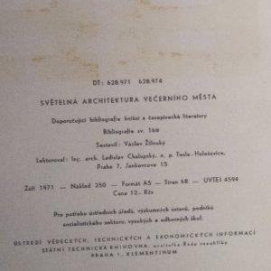 antikvární kniha Světelná architektura večerního města, 1971