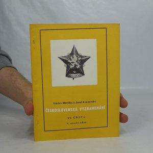 náhled knihy - Československá vyznamenání, Část 6, 2. národní odboj