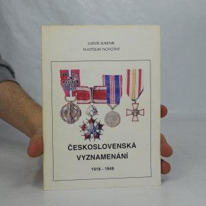 náhled knihy - Československá vyznamenání 1918 - 1948