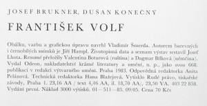 antikvární kniha František Volf : [monografie s ukázkami z výtvarného díla], 1983