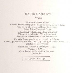 antikvární kniha Bruno anebo Dobrodružství německého chlapce v české vesnici, 1975