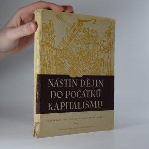 náhled knihy - Nástin dějin do počátků kapitalismu