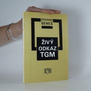 náhled knihy - Živý odkaz TGM. projevy 1937-1947