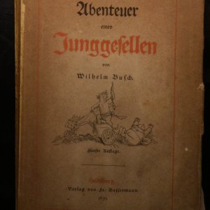 antikvární kniha Ubenteuer eines Junggesellen, 1876
