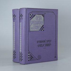 náhled knihy - Vybrané spisy Karla Sabiny I–II. díl (2 svazky)