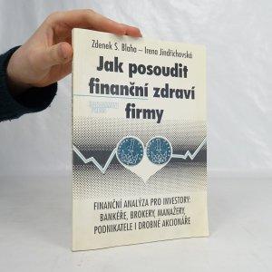 náhled knihy - Jak posoudit finanční zdraví firmy