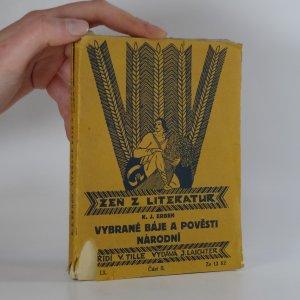 náhled knihy - Vybrané báje a pověsti národní