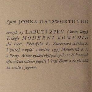 antikvární kniha Moderní komedie. [III. díl], Labutí zpěv, 1935