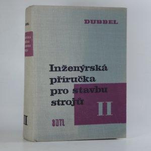 náhled knihy - Inženýrská příručka pro stavbu strojů II.