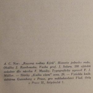 antikvární kniha Rozvrat rodiny Kýrů, neuveden