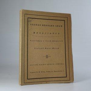náhled knihy - Mesaliance