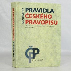 náhled knihy -  Akademická pravidla českého pravopisu