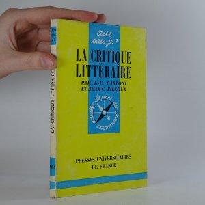 náhled knihy - La critique littéraire